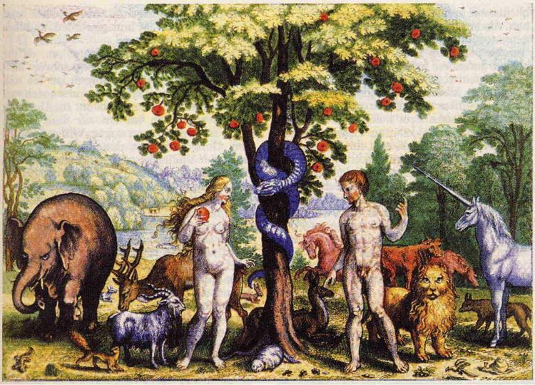 Abbildungen In Bibeln Paradies Adam Und Eva